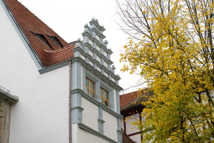 "Heinrich-Schütz-Haus Weißenfels | Restored gable of the ""Komponierstube"" (composing parlour)"
