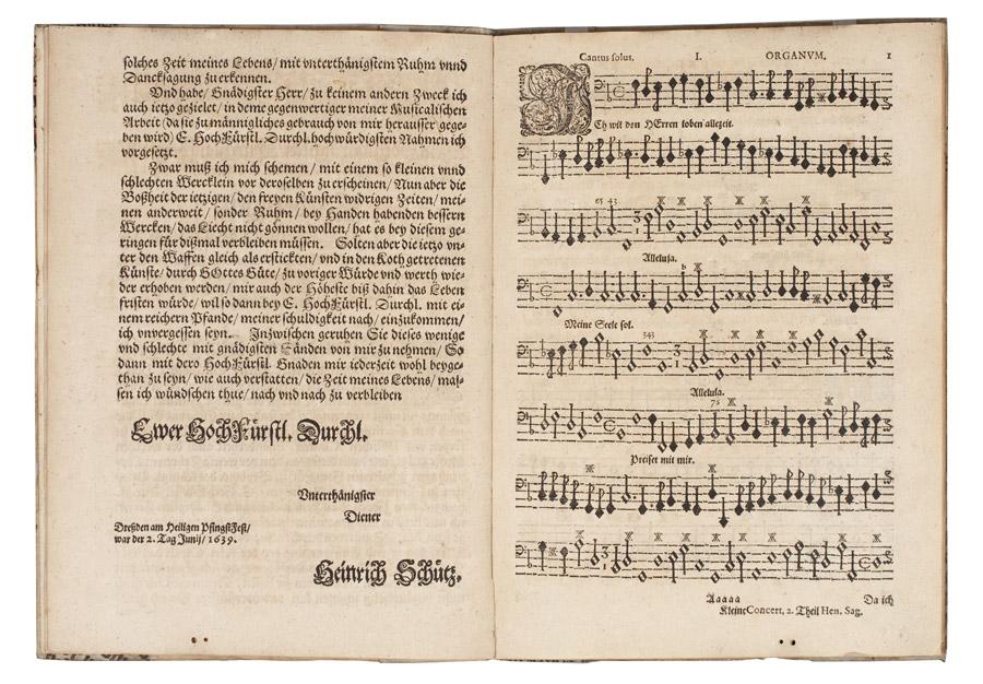 Heinrich-Schütz-Haus Weißenfels | Kleine geistliche Konzerte II, Stimmbuch Organum