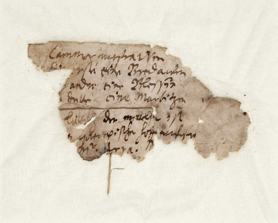 Heinrich-Schütz-Haus Weißenfels | Fragment of Heinrich Schütz's handwriting, discovered inside the building