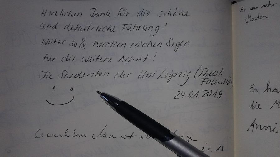 Heinrich-Schütz-Haus Weißenfels | Studierende der Theologie an der Universität Leipzig, Januar 2019