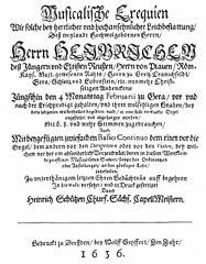 Heinrich-Schütz-Haus Weißenfels | Musikalische Exequien