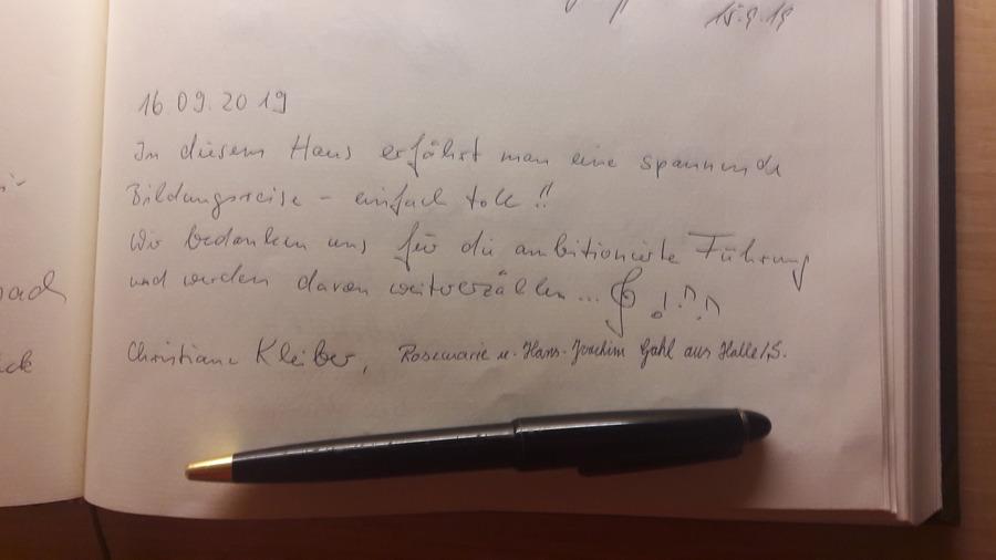 Heinrich-Schütz-Haus Weißenfels | Eine Lehrerfamilie aus Halle (Saale) im September 2019